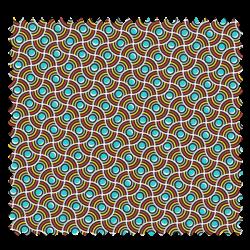 Tissu Imprimé Perle Turquoise