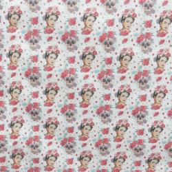 Tissu Frida Catrina Catalino Cretonne Imprimé