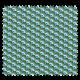 Tissu Imprimé Plume Emeraude