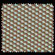 Tissu Imprimé Plume Rouge