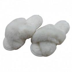 Chausson Ouvert Croisé Blanc