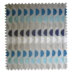 Tissu Jacquard Moon Bleu