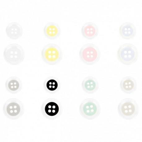 Bouton bi-colore 4 trous