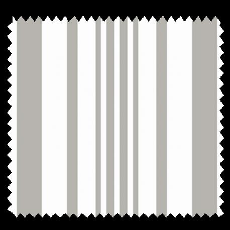 Tissu Tonkin Lin Rayure Blanc Argent