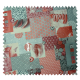 Tissu Cretonne Enduit Happy Gris Rouge