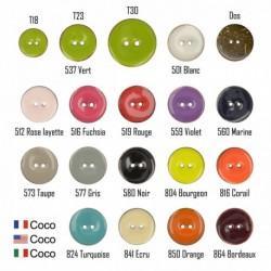 Bouton coco couleur