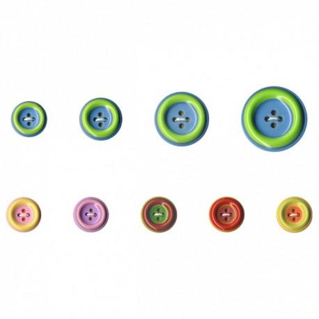 Bouton bicolore pastel 4 trous