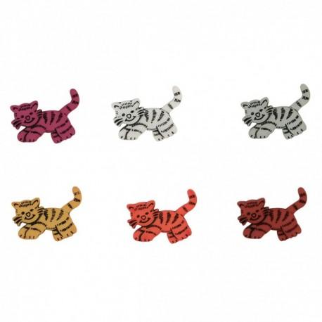 Bouton à queue chat tigre