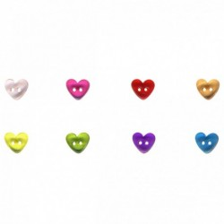 Bouton coeur transparent