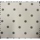 Tissu Lucette Anthracite Fond Blanc Enduit 1/2 Panama