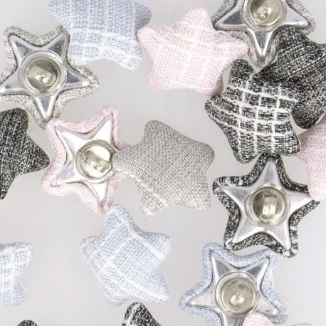 Bouton étoile tissus