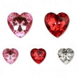 Bouton coeur cristal