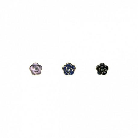 Bouton rose metal