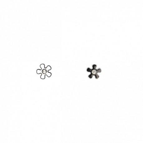 Bouton petite fleur et strass