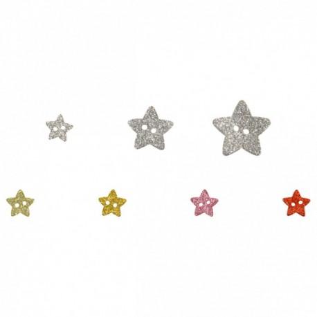 Bouton étoiles pailletées