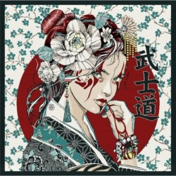 Coupon Geisha Turquoise 48x48 cm