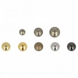 Bouton métallique boule