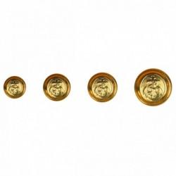 Bouton métallique - ancre
