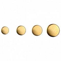 Bouton or métallique plat