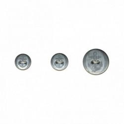 Bouton métal ancre 2 trous