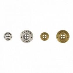 Bouton métal JEANS TIME 4 trous