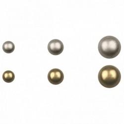 Boutons métal demi-sphere