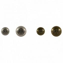 Bouton métal couronne