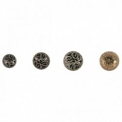 Bouton demi sphère métal forgé