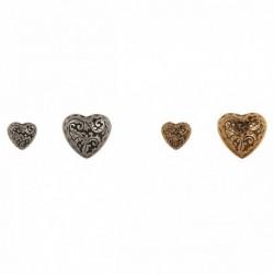 Bouton coeur métal forgé