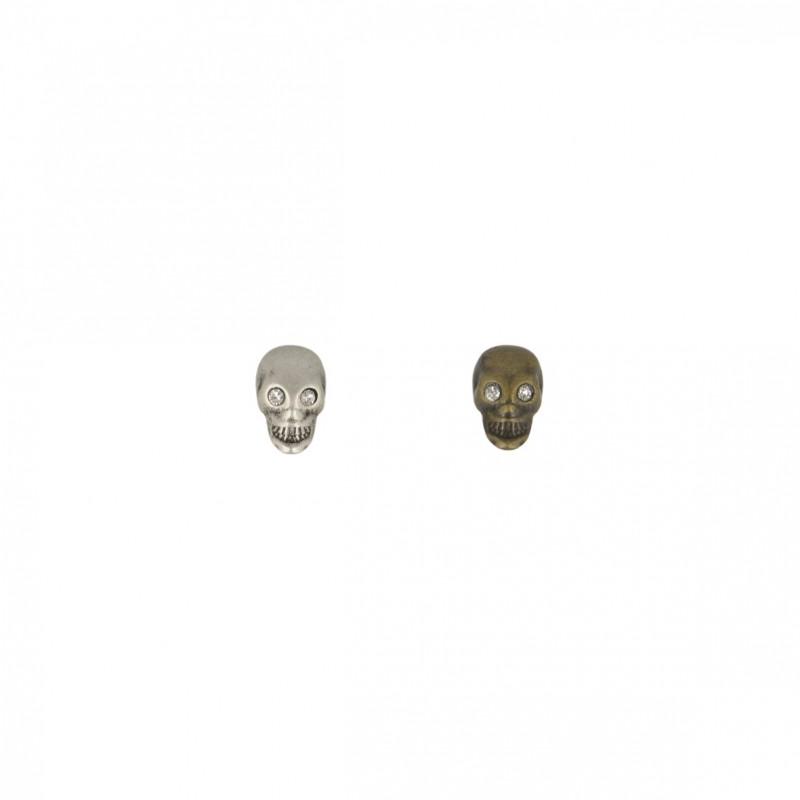 Bouton crâne oeil strass