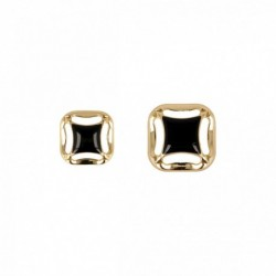Bouton bijou noir or