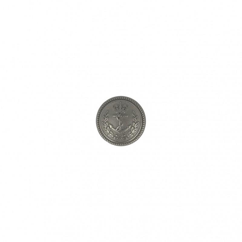 Bouton métal ancre