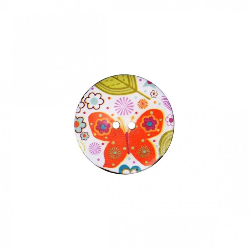 Bouton coco décoré