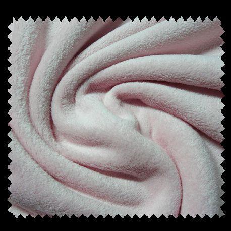 Tissu Microfibre Panda Uni Rose