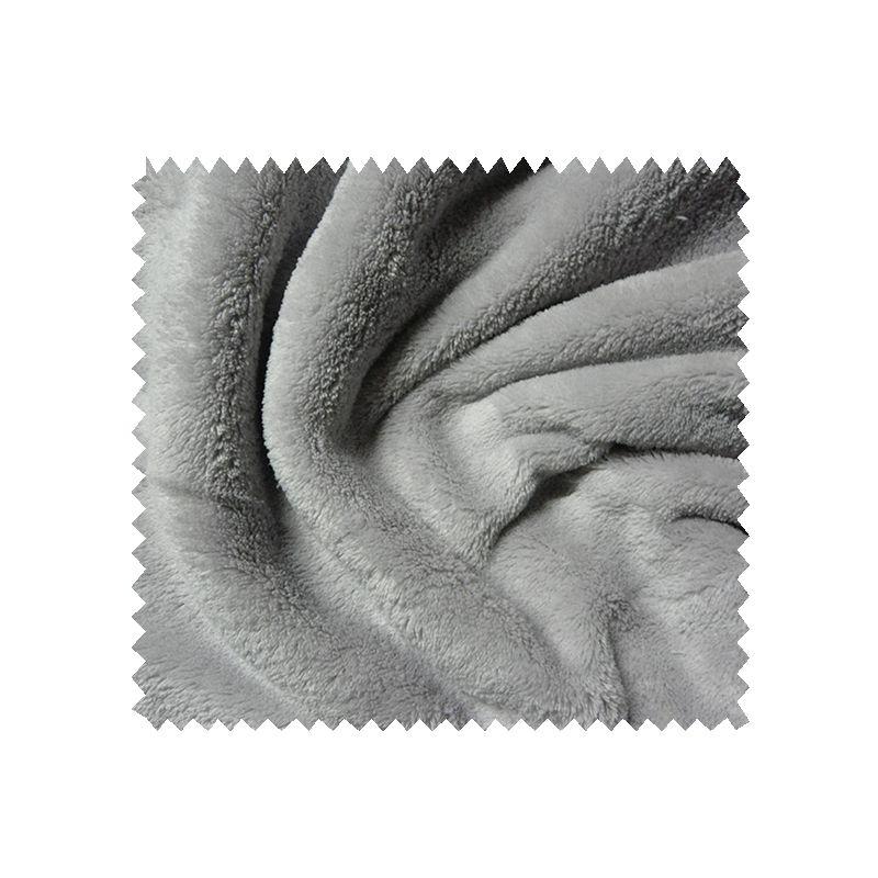 Tissu Microfibre Panda Uni Gris