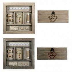 Boîte à couture carré en bois