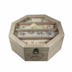 Boîte à couture polygone en bois
