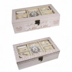 Boîte à couture rectangle en bois
