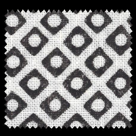 Tissu Imprimé Palacio noir