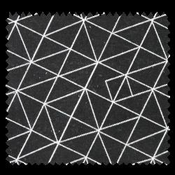 Tissu Jacquard Origami Noir