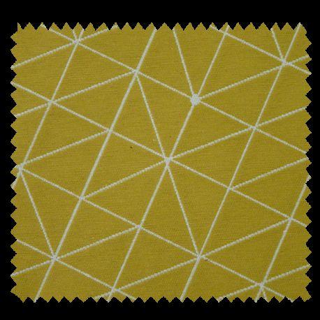 Tissu Jacquard Origami Jaune