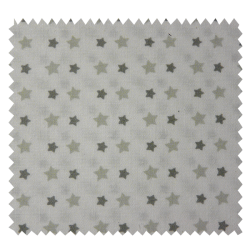 Tissu Etoiles Gris