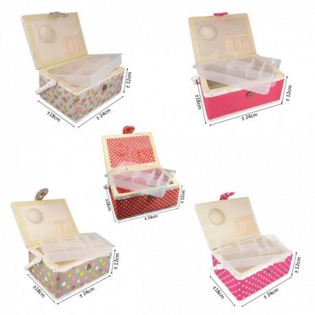 Boîte à couture en taffetas polyester
