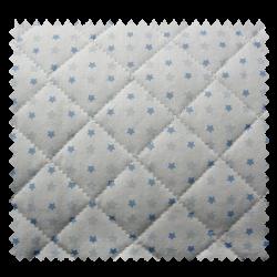 Tissu Matelassé Rayures Etoiles Bleues