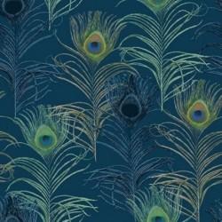 Tissu Piuma 1 Digital Bleu