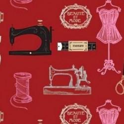 Tissu Couturiere 2 Digital Rouge