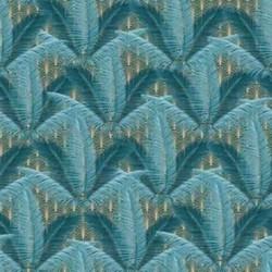 Tissu Kijani 4 Digital Bleu