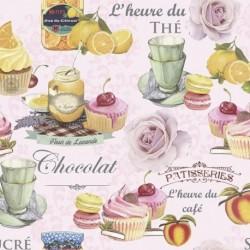 Tissu Sugar 3 Digital Rose