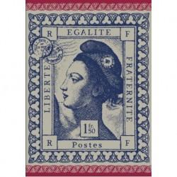 Torchon Jacquard Marianne Bleu