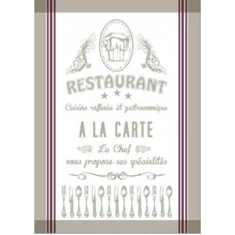 Torchon Jacquard Restaurant Lino